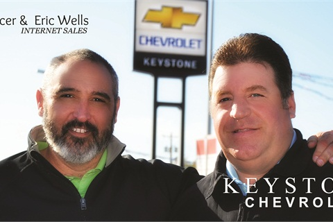 Hurst Spencer and Eric Wells are part of Keystone's digital sales and marketing team.