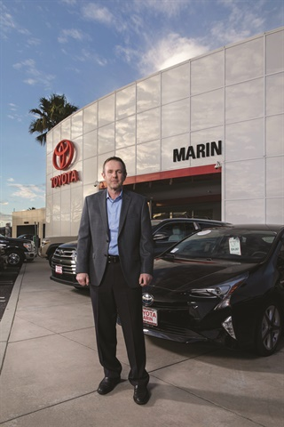 San Rafael, Calif.-based Toyota Marin was the first dealership to embrace Roadster's Express Storefront in July 2016. General Manager Mike Christian said the digital retailing platform touches close to 100 of the 425 units the dealership sells each month.