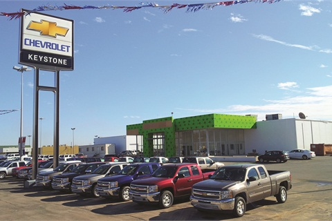 Keystone Chevrolet is planning a special text-messaging campaign to mark the grand reopening of its newly renovated facility, which now has a new showroom.