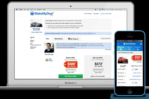 MakeMyDeal revealed that through consumer surveys of more than 1,000 users of its online deal-making tool and dealer communications platform, shoppers rated their experience 40% better than their previous car-buying experience in four key areas: communicating with the dealer, receiving quotes, negotiating a deal, and time spent at the dealership.