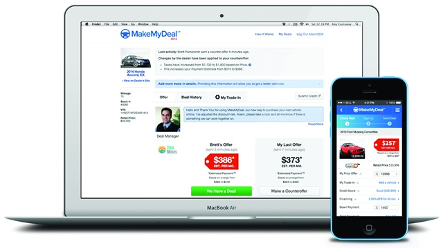 O'Neil said MakeMyDeal was integrated into Dealertrack's network earlier this year. He revealed, however, that Cox Automotive is preparing to unveil its next version of digital retailing, which will connect the payment, the F&I experience, menu experience, and link trade-ins to Kelley Blue Book Instant Cash Offer.