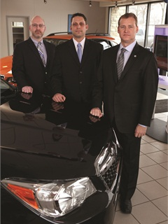 When data security became a priority for Street Auto Group, it contacted Michigan-based Nuspire Networks, a network security service provider. Pictured is Tim Gallagher, senior security analytics team engineer, Tony Petcou, channel program manager, and Saylor Frase, the company's president and CEO.