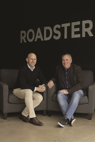 Pictured are Roadster COO Rudi Thun and CEO and founder Andy Moss. The latter was formerly head of vehicles for eBay Motors and COO of CarWoo! The San Francisco-based firm evolved from a California broker site to digital retailing solution provider in June 2016.
