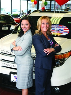Dealer Melanie Spare-Oswalt (r) leaned on MarketResource rep Nicole Avellina to get her store back on track. Avellina, whose F&I consulting firm was hired by Ford ESP to install new sales and F&I processes at about 800 Ford stores, arrived at Sayville Ford in the spring of 2010.