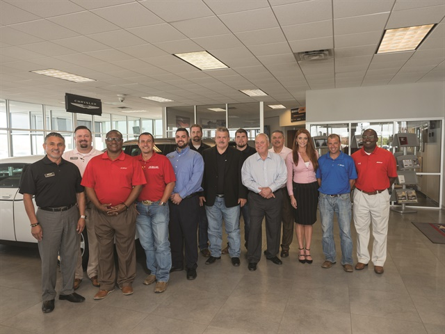 Pictured are members of Star Dodge Chrysler Jeep Ram/Hyundai's sales team. They include (l-r) Tony Rodriguez, Internet Sales Consultant Steve Sheppard, Rodney Hester, Chris Ramos, Sales Manager Jared Jackson, Jeff Boyles, General Manager Tracy Gilliam, Daniel Bullard, Dealer Mike Dunnahoo, Hector Montalvo, Melissa Boyd, Rusty Bullard, and Sales Manager Cory McGee.
