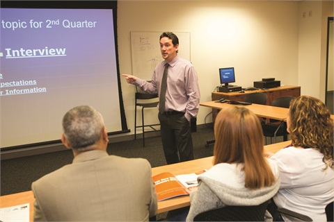 F&I Director Tim Lavoie coaches his F&I team during his department's monthly F&I training session.