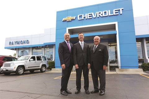 Pictured (l-r) is Dealer Mark Scarpelli, his brother Ray Scarpelli, and father Raymond Scarpelli Sr., who started the business 57 years ago with partner John Teresi. According to the 2017 NADA Chairman, his father chose 'Raymond' over 'Scarpelli' for the family business because, as he said, 'People seem to have a knack for not spelling our last name properly.'