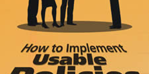 How to Implement Usable Policies