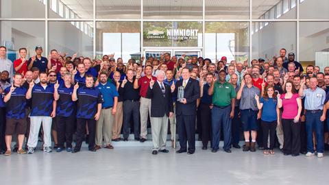The team at the Jacksonville, Fla.-based Nimnicht Chevrolet earned General Motor's 2014 Dealer...