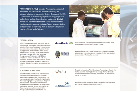 Ziegler questions why the AutoTrader Group and its affiliate companies require that dealers provide access to their DMS.