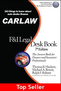 Hudson Cook Team Updates 'CARLAW F&I Desk Book'
