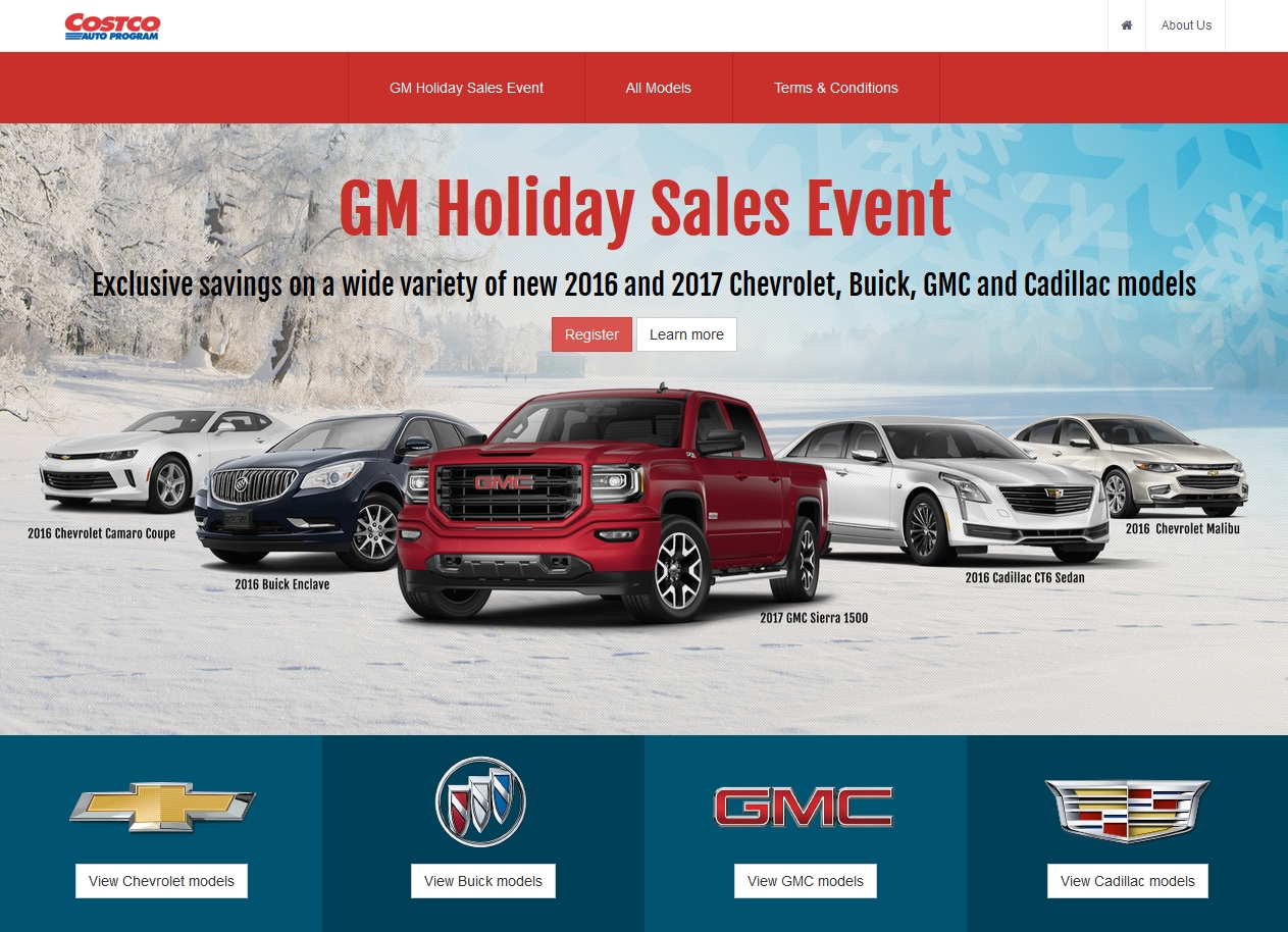 GM, Costco Team Up on Holiday Sales Event