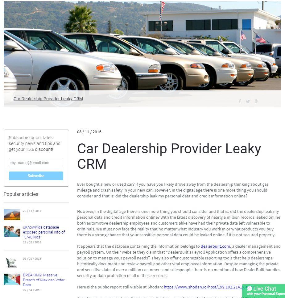 DealerBuilt Settles With New Jersey Regulators Over Data Breach
