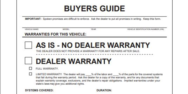 FTC, 12 Partner Agencies Conduct Used Car Rule Compliance Sweep