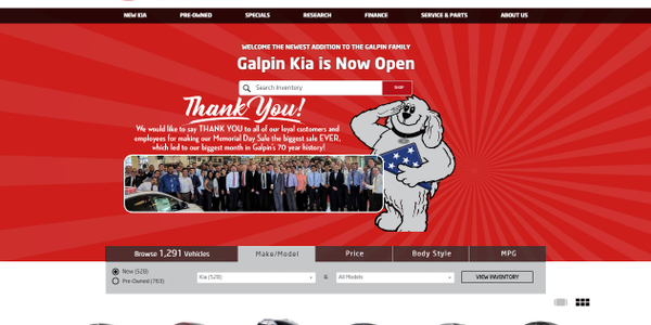 Galpin Becomes Exclusive Kia Outlet for California's San Fernando Valley