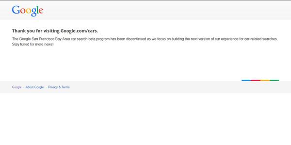 Google Cars Beta Program Discontinued