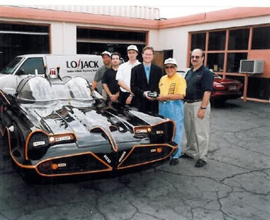 """The original """"Batmobile"""" had the distinction of being equipped with the one-millionth LoJack Stolen Vehicle Recovery System in 1999. Photo courtesy of LoJack Corporation."""