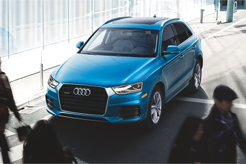 Used subcompact luxury CUVs such as the Audi Q3 suffered a 19.2% year-over-year value decrease in December, leading all categories in Black Book's latest rankings. Photo courtesy Audi AG