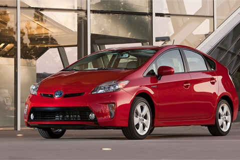 The 2014 Toyota Prius topped J.D. Power's latest dependability rankings in the compact car segment, one of 10 category wins for the mass-market OEM. Photo courtesy Toyota Motor Sales USA Inc.