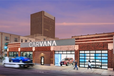 "Carvana users can now opt for Carvana Curbside, a new delivery method offered in addition to home delivery or the company's infamous ""vending machine""-style storefronts. Photo courtesy Carvana"