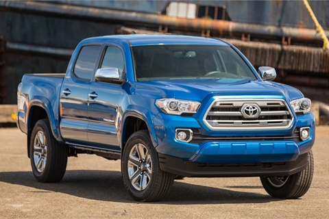 Sales of the Toyota Tacoma improved by 0.6% in February, offsetting a 5.4% decrease in overall sales for the Japanese manufacturer. Photo courtesy Toyota Motor Sales USA Inc.