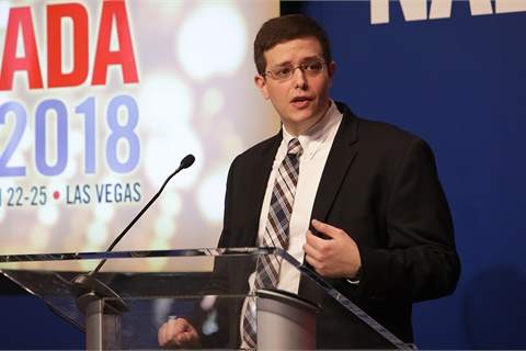 NADA Senior Economist Patrick Manzi addressed a number of economic concerns and announced the release of the association's 2017 industry data report. Photo courtesy NADA