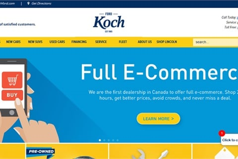 Koch Ford Lincoln in Edmonton, Alberta, has launched a new website designed to allow car buyers to find, reserve and purchase a vehicle.