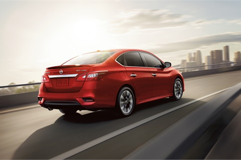 At $109/month, the 2018 Nissan Sentra has been America's most affordable lease for three straight months. Photo courtesy Nissan USA
