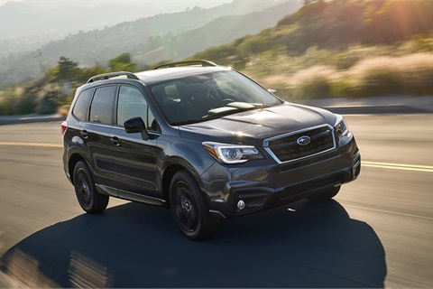 SUVs such as the Subaru Forester have enjoyed five consecutive years of market-share gains, but Edmunds analysts fear demand for the segment may have reached its peak. Photo courtesy Subaru of America Inc.