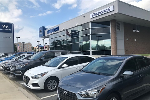 Peacock Automotive has acquired the former Jim Hudson Hyundai and Genesis of Columbia, S.C. Photo courtesy Peacock Automotive