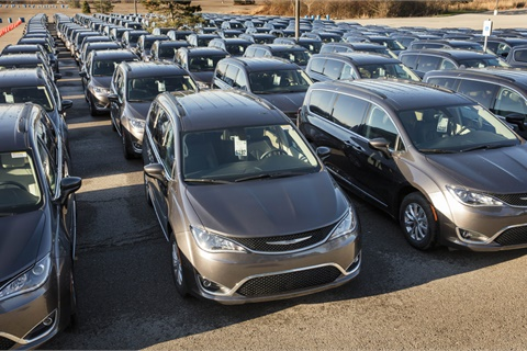 The all-new 2017 Chrysler Pacifica was the highest-ranked minivan in J.D. Powers' latest rankings of new-vehicle appeal. Photo courtesy Fiat Chrysler Automobiles