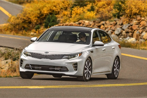 Multiple awards for the Optima helped propel Kia to a spot on Kelley Blue Books list of the 10 Most Awarded Brands of 2017. Photo courtesy Kia Motors America