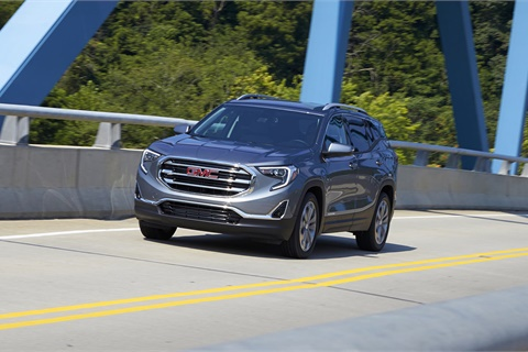Drivers in the State of Washington selected the GMC Terrain as their No. 1 pick among vehicles suited to long drives and outdoor adventure. Photo courtesy General Motors Co.