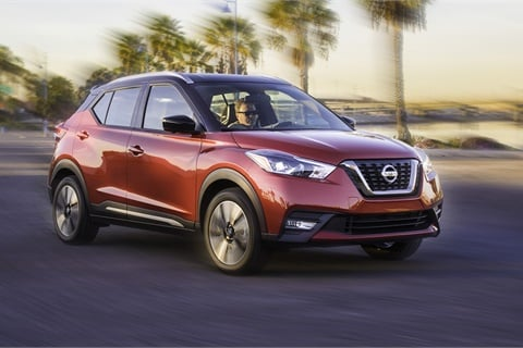 The Nissan Kicks was among the shrinking number of new vehicles boasting an available zero percent financing deal in July. Photo courtesy Nissan North America