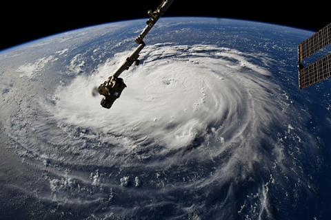 Hurricane Florence as seen from the International Space Station on Monday, Sept. 10. Photo courtesy NASA