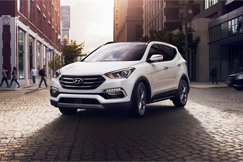 Dealertrack's expanded partnership with Hyundai and Kia's captive finance companies includes a streamlined funding process for vehicles such as the Hyundai Santa Fe Sport. Photo courtesy Hyundai Motor America
