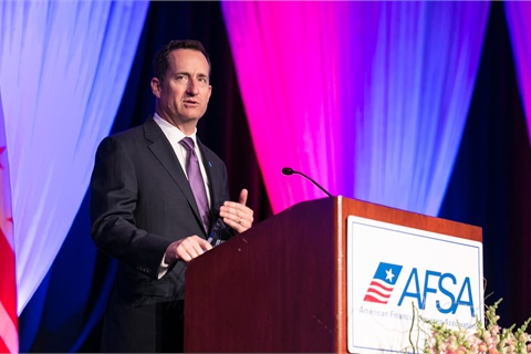 TD Auto Finance's Andrew Stuart accepted AFSA's 2017 Distinguished Service Award at the organization's annual meeting in Washington, D.C. Photo courtesy American Financial Services Association