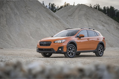 Compact crossover SUVs such as the Subaru Crosstrek are one of several categories showing continued value-retention strength in the waning months of 2017. Photo courtesy Subaru of America