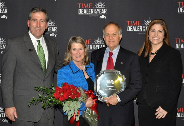Tim Russi with 2012 TIME Dealer of the Year award winner, Mike Shaw, his wife, Nancy Shaw and TIME Worldwide Publisher, Kim Kelleher.