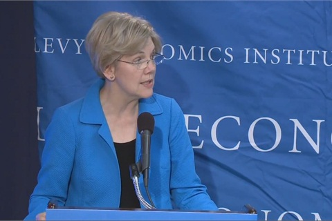 Sen. Elizabeth Warren (D-Mass.) has called on Congress to impose further reforms on the financial sector that go beyond the Dodd-Frank Act.
