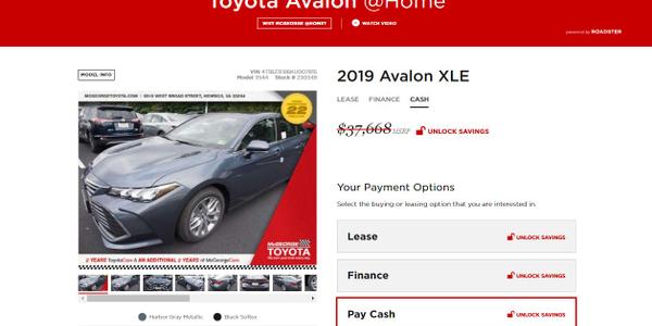Virginia Dealer Rolls Out Roadster's Online Car-Buying Platform