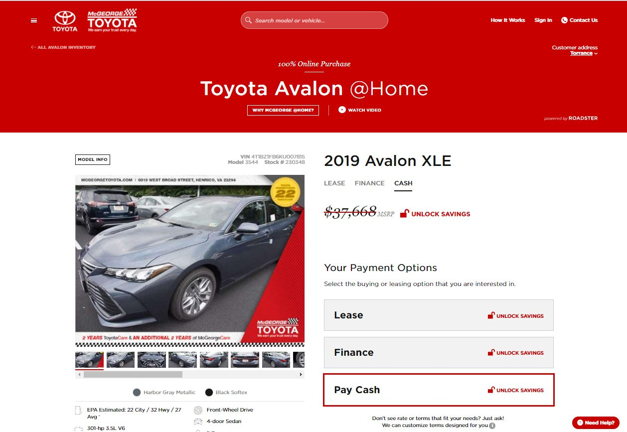 Virginia Dealer Rolls Out Roadster's Online Car-Buying Platform