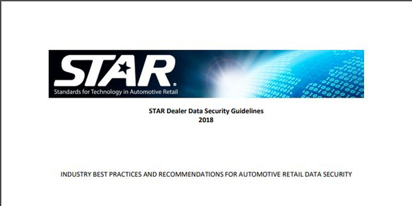 STAR Releases 2018 Dealer Data Security Guidelines