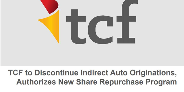 TCF Exits Indirect Auto Finance Business
