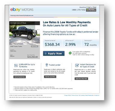Ebay Motors Partners With Roadloans F I F I And Showroom