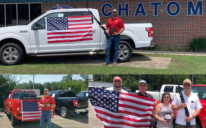 Chatom (Ala.) Ford has ended a promotional campaign promising free shotguns to sold customers following a cease-and-desist from the factory. 