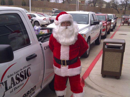 Santa stopped by Classic Dodge Chrysler Jeep.