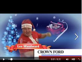 Santa stars in Crown Ford Nashville's latest TV promo.
