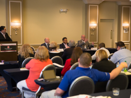 """The """"F&I Top Guns"""" panel consisted of (l-r) James Ballou, Caz Cazaubo and Justin Gasman."""