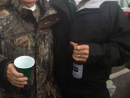 In 2013, just months after a heart attack, Ed was tailgating with his son Ty and other friends...